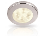RAKINO w.white LED downlight Spread 12V DC polished. SS rim 75mm