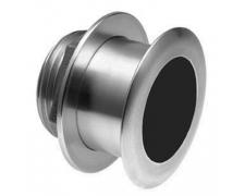 XSONIC SS164 Stainless Steel Low Profile Thru Hull 1kW 50/200 Khz Depth/Temp (12° tilt) - black 9 pin connector