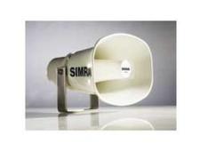 Waterproof white horn speaker (80hms) for use with loud hailer.