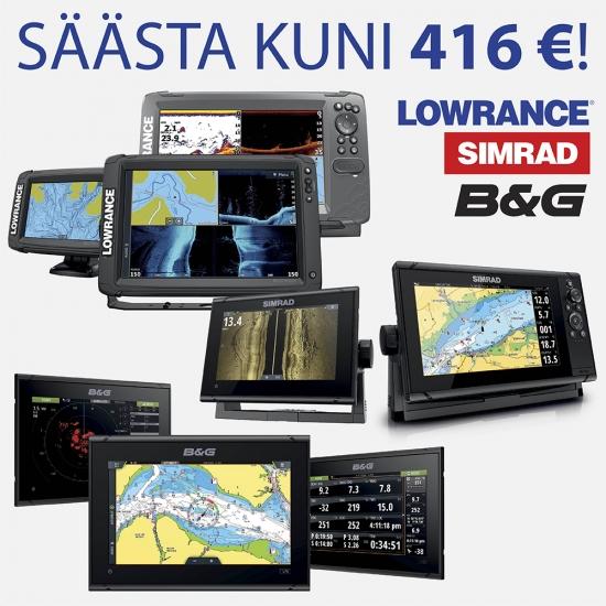 Lowrance, SIMRAD, B&G kampaania: SÄÄSTA KUNI 416 EUR!