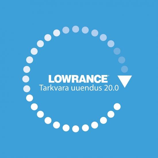 Lowrance tarkvara uuendus 20.0