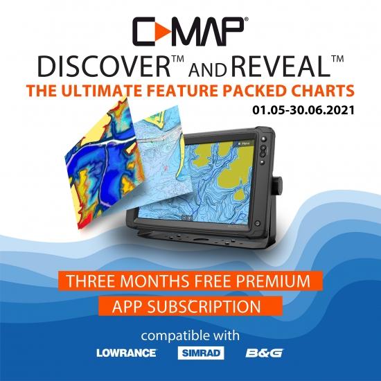 BEZMAKSAS 3 mēnešu C-MAP Premium
