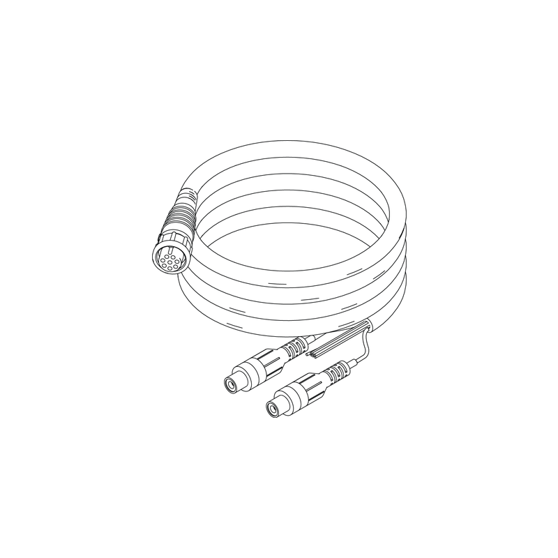simrad nse  nss video  comms cable  8 pin conn  to bare