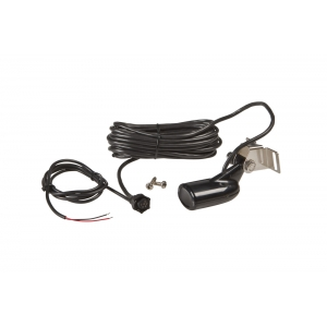 HST-WSU transom mount Skimmer® transducer with built-in temperature. 20ft cable.