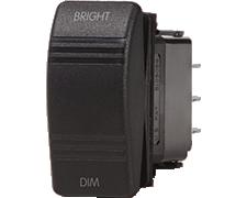 Switch Contura SPDT(On)-Off-(On) Dimmer Black