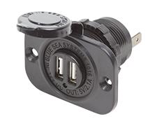 12VDC Socket Dual USB Output 5V 2.1A