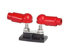 BusBar Dual Stud 3/8in with insulators