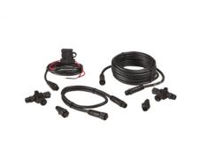 NMEA 2000® alustuskomplekt. NMEA 2000 võrk, et paigaldada üks või rohkem NMEA 2000® seadet. Sisaldab võrgu toitekaablit, 0.6 m (2 jalga) N2K kaablit, 4.5 m (15 jalga) N2K kaablit, 2 x T-konnektorit, 2 x võrgu terminaatorit