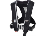 Race SL auto w. Harness, Black, 50-110 kg
