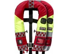Päästeteenuste päästevest tuletõrjujale, punane, 40-150 kg