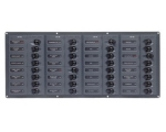 BEP Circuit Breaker Panel DC 12V 32x Single Pole 7x5A 11x10A 11x15A 1x20A 1x25A 1x30A Horizontal