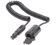 12VDC Plug w/Single Extension Socket