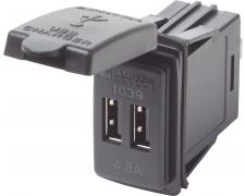 12/24VDC Dual USB 4.8A SwMnt