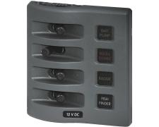 Panel WD 12VDC Fused 4pos Gray