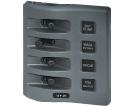 Panel WD Switch Only 4pos Gray