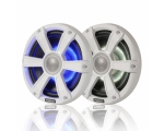 "7.7"" Marine High Performance Loudspeaker with White Sport grill + LED"