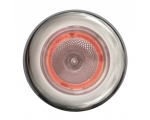 3980 SERIES WHITE LIGHT SPOTLED RED AMBIENT RING, SATIN SS RING