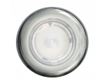 3980 SERIES WHITE LIGHT SPOTLED WHITE AMBIENT RING, SATIN SS RING