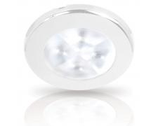 LED allvalgusti, RAKINO, valge valgus, 12V DC, valge plastik raam75mm