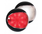 LED LAMP EUROLED 130 9-33V Touch White/Red - BLACK SHROUD
