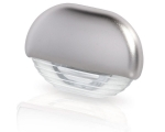 LED STEPLAMP EASY FIT WHITE LIGHT, SATIN CHROME CAP