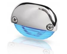 LED astmevalgusti Easy Fit, sinine valgus, läikiv roostevabateras korpus