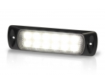LED Sea Hawk, 5500K,3W/200lm, 9-33VDC, Spread Light, Black Housing Recess