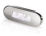 LED OBLONG STEP LAMP WIDE RIM 10-33V WHITE - SATIN 316 S/S BEZEL.
