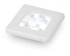 Slim Line, LED lamp, valge valgus, valge plastik raam, 24V, ruut