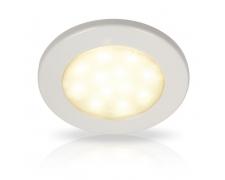 Warm White EuroLED 115 LED Downlights 10-33V DC, White plastic rim