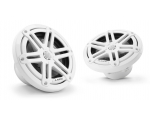 M3-650X-S-Gw 6.5-inch (165 mm) Marine Coaxial Speakers, Gloss White Sport Grilles with RGB LED Lighting 60W RMS