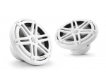 M3-770X-S-Gw 7.7-inch (196 mm) Marine Coaxial Speakers, White Sport Grilles with RGB LED Lighting 70W RMS