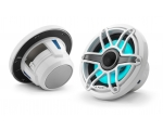 M6-770X-S-GwGw-i 7.7-inch (196 mm) Marine Coaxial Speakers, White Sport Grilles with RGB LED Lighting 100W RMS