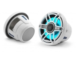 M6-880X-S-GwGw-i 8.8-inch (224 mm) Marine Coaxial Speakers, White Sport Grilles with RGB LED Lighting 125W RMS