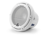 M6-10IB-C-GwGw-4 10-inch (250 mm) Marine Subwoofer Driver, Gloss White Trim Ring, Gloss White Classic Grille, 250W RMS