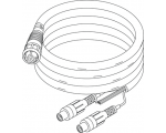 Simrad NSE, NSS Video/Comms Cable (8 pin conn. to bare wires for NMEA and 2 RCA female for Video in Port one and two)  2 m (6.5