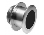 XSONIC SS164 Stainless Steel Low Profile Thru Hull 1kW 50/200 Khz Depth/Temp (12° tilt) - black 9 pin connector