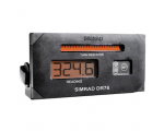 DR76 Digital Repeater with 4-Digit LCD display and LED turn indicator. NMEA 0183 input. Panel mount.