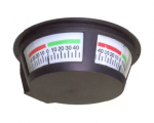 Panorama Rudder Indicator RI85-45 (45°-0-45°). 3-way indicator. For overhead mounting.