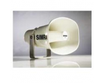 Waterproof white horn speaker (8 Ohms) for use with loud hailer.