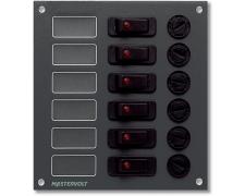 Mastervolt Junior panel, 6 circuit/15A max. per outlet