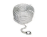 Anchor line stainless thimble white 12mm 40m