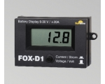 FOX-D1 voltage/current display surfance mount, max 20A, 8-30V