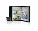 C75LA Single door refrigerator + holding plate - BLACK -, 75L, 12/24Vdc, External